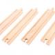 4 long straight wooden tracks