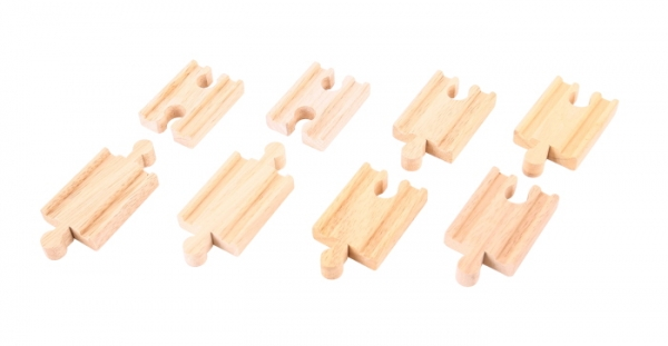 8 mini straight wooden tracks
