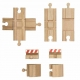 buffer stops with intersection wooden tracks