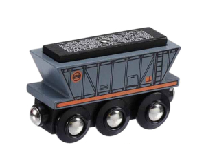 coal hopper wooden train wagon