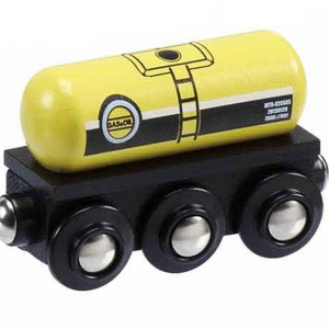 gas oil tank wooden train wagon