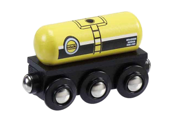 gas oil tank wooden train wagon
