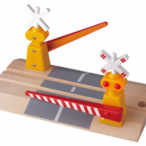 interactive light and sound wooden level crossing