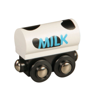milk tank wooden train wagon