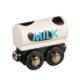 milk tank wooden train wagon