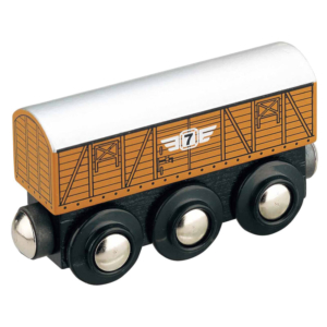 stock wooden train wagon