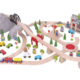 112 piece mountain railway wooden train set