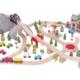 112 piece mountain railway wooden train set