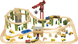 116 piece construction wooden train set