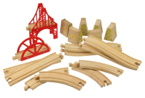 18 piece bridge wooden track expansion pack