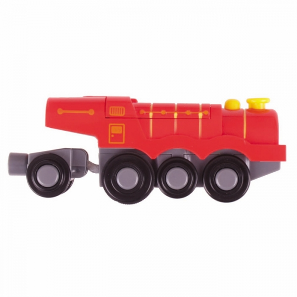 battery operated big red steam engine train