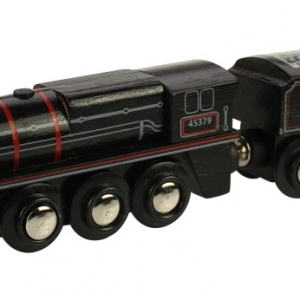 black wooden train