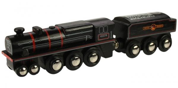 black wooden train