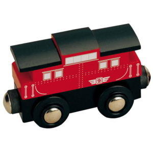 caboose wooden train wagon