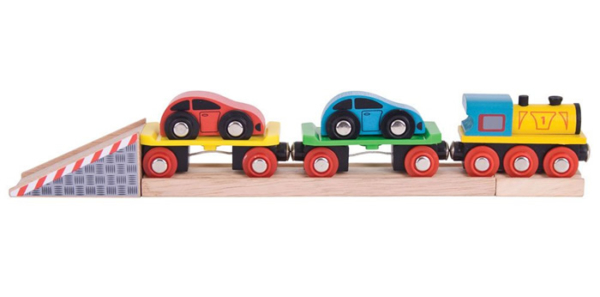 car loader wooden train