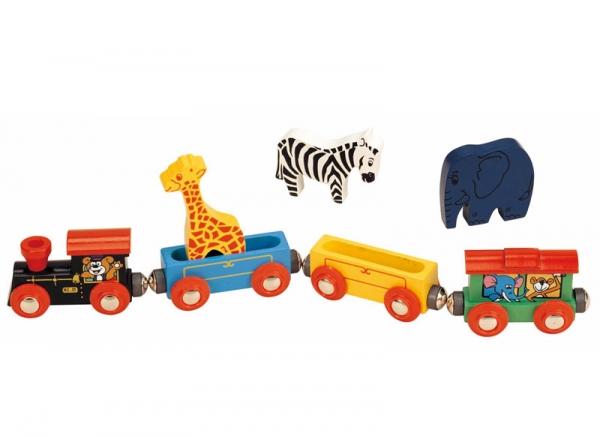 classic animal wooden train