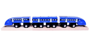 high speed wooden train