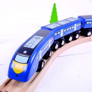 high speed wooden train