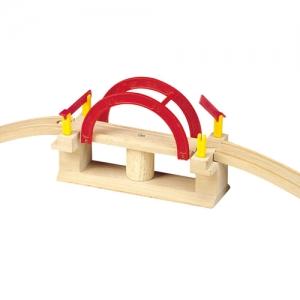 wooden swing bridge