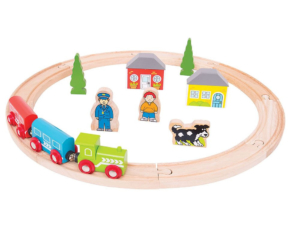 20 piece my first wooden train set