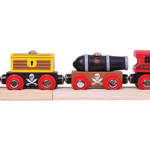 pirate wooden train