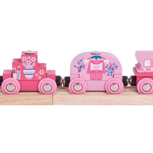 princess wooden train