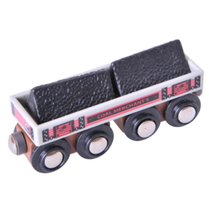 big coal wooden train wagon