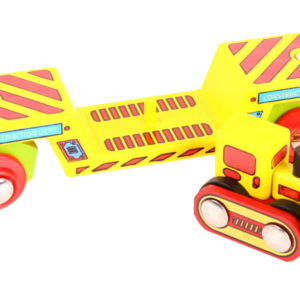 bulldozer low loader wooden train wagon