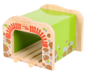double wooden tunnel