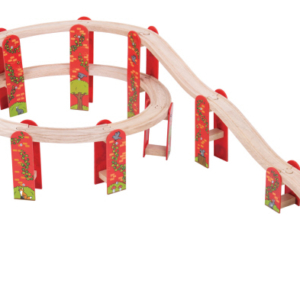 18 piece high level wooden track expansion pack