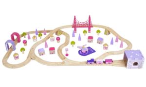 75 piece fairy town wooden train set
