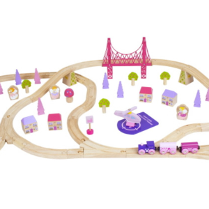 75 piece fairy town wooden train set