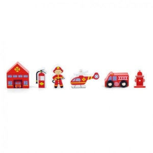 wooden fire station accessories