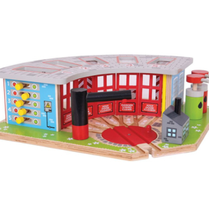 5 way wooden engine shed