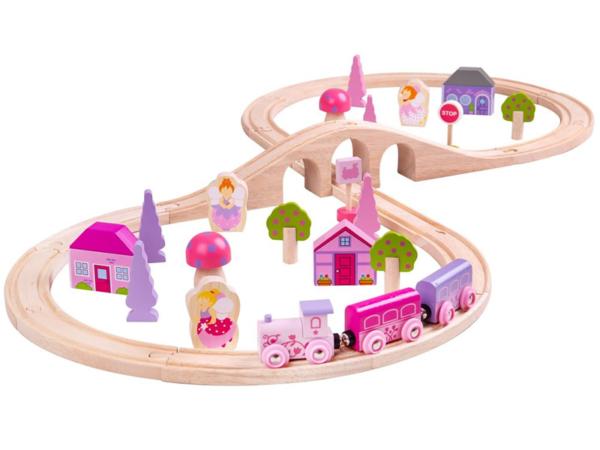 fairy figure of eight wooden train set