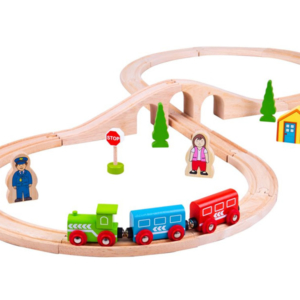 figure of eight wooden train set