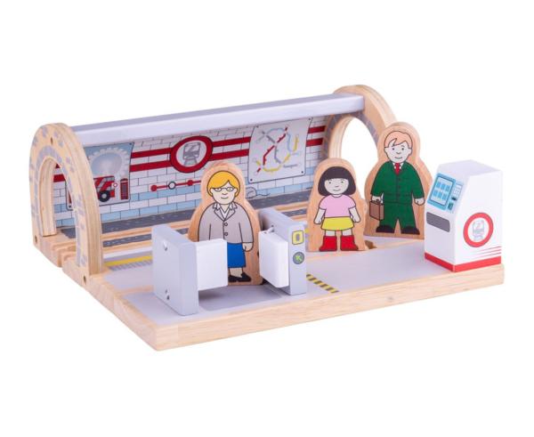 wooden underground station