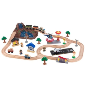 Bucket Top Mountain Wooden Train Set