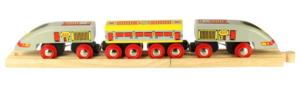 bullet wooden train