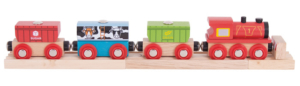cereal wooden train