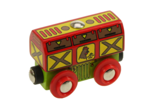 chicken wooden train wagon