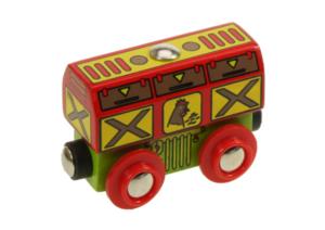 chicken wooden train wagon