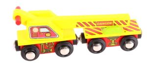 crane wooden train wagon