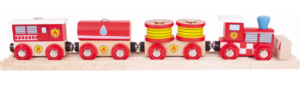 fire and rescue wooden train