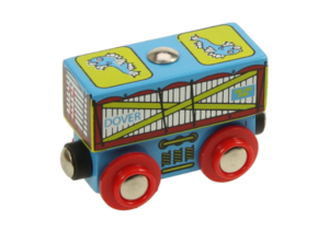 fish wooden train wagon
