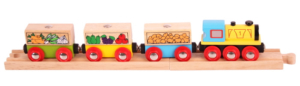 fruit and veg wooden train