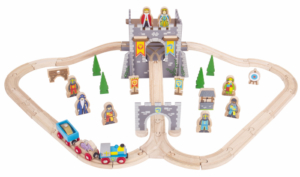 medieval wooden train set