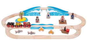 pirate wooden train set
