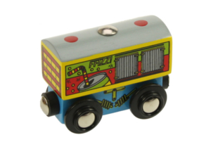 soft drinks wooden train wagon