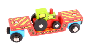 tractor low loader wooden train wagon